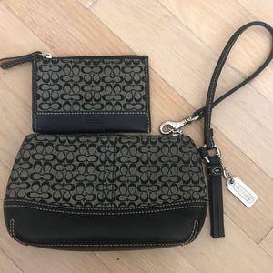 COACH wristlet & matching coin purse